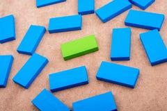 Bloques de madera de diverso color Foto de archivo libre de regalías