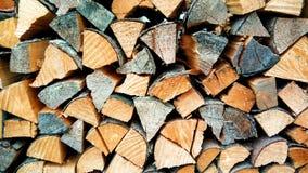 Bloques de madera doblados para calentar Fotografía de archivo