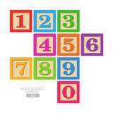 Bloques de madera - números Foto de archivo libre de regalías