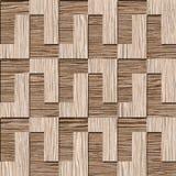 Bloques decorativos abstractos - textura de madera arruinada del surco del roble ilustración del vector