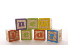 Bloques del Año Nuevo Imágenes de archivo libres de regalías