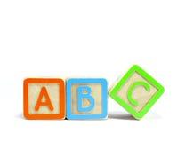 Bloques del ABC Imagen de archivo libre de regalías