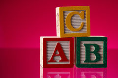Bloques del ABC Fotos de archivo libres de regalías