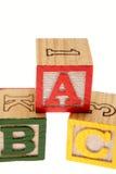 Bloques del ABC Fotos de archivo