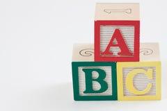 Bloques del ABC con el espacio blanco Imagen de archivo
