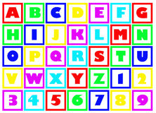Bloques del alfabeto Fotografía de archivo libre de regalías
