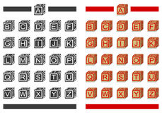 Bloques del alfabeto Imágenes de archivo libres de regalías