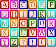 Bloques del alfabeto stock de ilustración