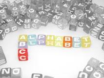 Bloques del alfabeto del ABC Imagen de archivo