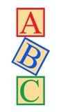 Bloques del alfabeto del ABC Fotografía de archivo