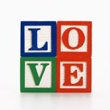 Bloques del alfabeto del juguete. Imagen de archivo