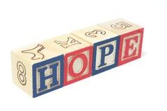 Bloques del alfabeto - esperanza fotos de archivo libres de regalías