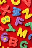 Bloques del alfabeto y del número foto de archivo libre de regalías