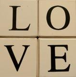Bloques del amor Imagen de archivo libre de regalías