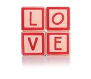 Bloques del amor imagenes de archivo