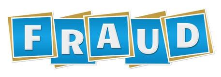 Bloques del azul del fraude Imagen de archivo libre de regalías