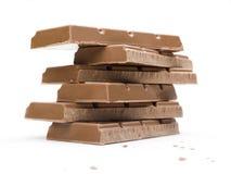 Bloques del chocolate Foto de archivo