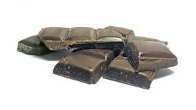 Bloques del chocolate Imagen de archivo libre de regalías