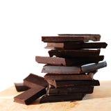 Bloques del chocolate Fotos de archivo libres de regalías
