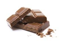 Bloques del chocolate con leche Imágenes de archivo libres de regalías