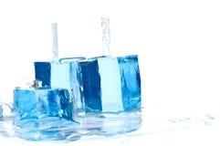 Bloques del hielo Imágenes de archivo libres de regalías