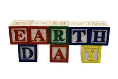 Bloques del juguete del día de tierra fotografía de archivo libre de regalías