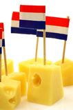 Bloques del queso de Holanda fotografía de archivo libre de regalías