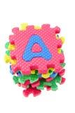 Bloques del rompecabezas del alfabeto Fotografía de archivo