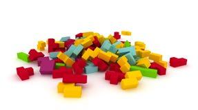 Bloques dispersados de los tetris Imagen de archivo libre de regalías