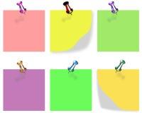 Bloques en algunos colores para escribir mensajes de los shortnesss Fotografía de archivo