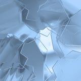 Bloques fríos del cromo Imagenes de archivo