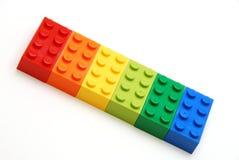 Bloques huecos coloridos Foto de archivo libre de regalías