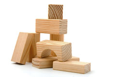 Bloques huecos de madera Fotos de archivo libres de regalías