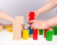 Bloques huecos de madera coloridos Fotografía de archivo