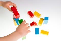 Bloques huecos de madera coloridos Imagen de archivo