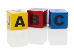 Bloques huecos del alfabeto del ABC Foto de archivo libre de regalías