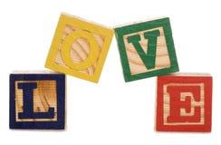 Bloques huecos del amor Foto de archivo