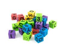 Bloques huecos del juguete Imágenes de archivo libres de regalías