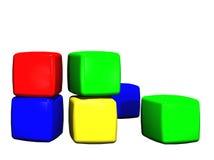 Bloques huecos del juguete de los niños Foto de archivo libre de regalías