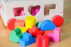 Bloques huecos del juguete de madera Imagenes de archivo