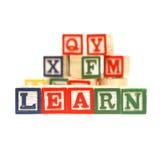 Aprendizaje del alfabeto Imagen de archivo libre de regalías