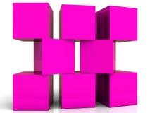Bloques huecos violetas Fotos de archivo libres de regalías