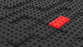 Bloques negros y rojos conectados del lego Backgroun abstracto del negocio Foto de archivo libre de regalías