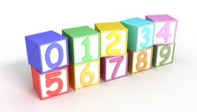 Bloques numéricos del bebé Fotografía de archivo libre de regalías