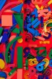 Bloques plásticos, figuras geométricas Imágenes de archivo libres de regalías