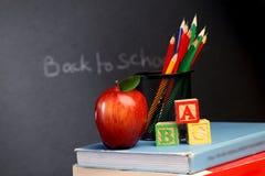 Bloques y manzana de ABC Fotos de archivo libres de regalías