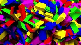 Bloques y pedazos animados coloridos 4K ultra HD stock de ilustración