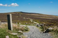 Blorenge mountain,. Blorenge or sometimes The Blorenge is a prominent hill overlooking the valley of the River Usk in Monmouthshire, southeast Wales. It is Stock Photo