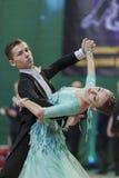 Bloshnyanica Dmitry and Belmach Kseniya Perform Youth-2 Standard Program on National Championship Stock Photography