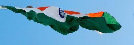 Blossa den indiska nationsflaggan arkivfoton